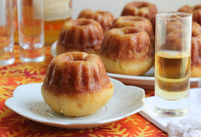 Food Lust People Love: These babà Napoletano al rum bundtlettes are a traditional Italian dessert baked in an unconventional pan that does them proud. The hole in the middle gives extra surface area for absorbing the rum syrup and that is a very good thing!