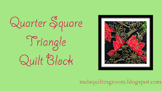 Quarter Square Triangle Block #video @homeecmel