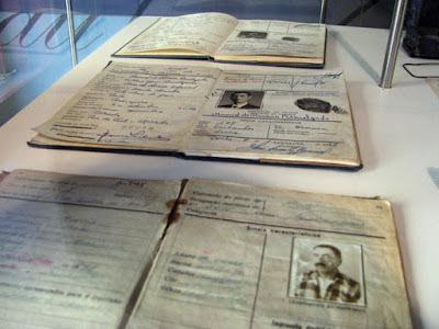 Documentos de antigos pescadores expostos no Centro Interpretativo da Afurada