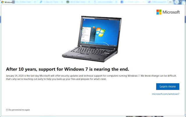 windows 7 ending support 14 January 2020