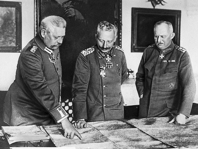 Ludendorff, Kaiser Wilhelm, and Hindenburg worldwartwo.filminspector.com