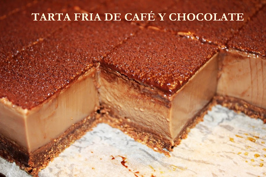 TARTA DE CAFÉ Y CHOCOLATE {SIN HORNO}