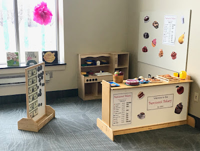 Bakery Dramatic Play Center, Dramatic Play at the library