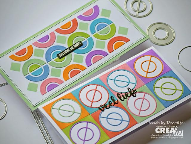 Geometric pattern Circle using Crealies  circle element dies