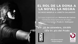 Xerrada sobre el rol de la dona a la novel·la negra, al Prado de Sitges