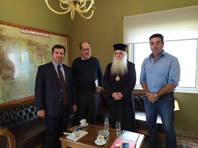 Συνάντηση του Περιφερειάρχη Πελοποννήσου με τον Μητροπολίτη Αργολίδας και τον Δήμαρχο Ναυπλιέων