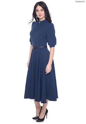 modelos de vestidos azul