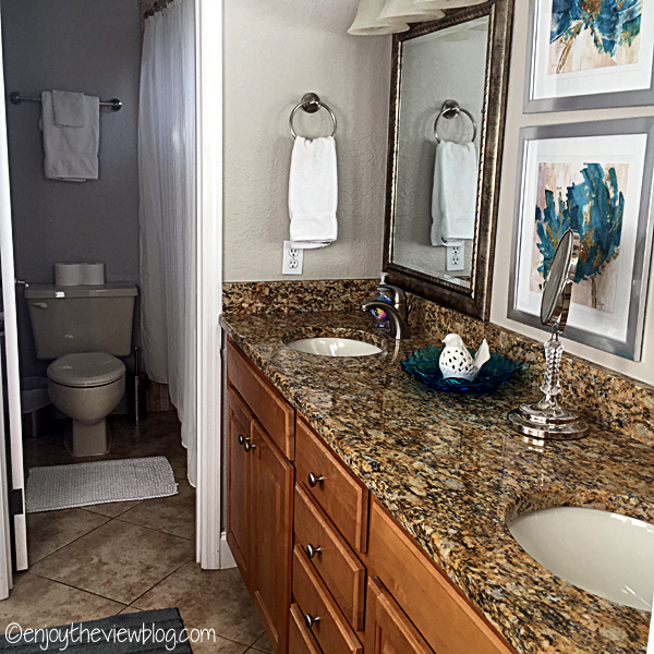 master bathroom with granite counter