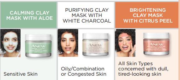 Avon Canada Anew Clay Masks