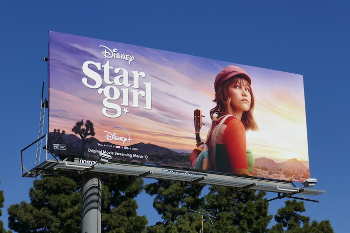 Disney Stargirl movie billboard