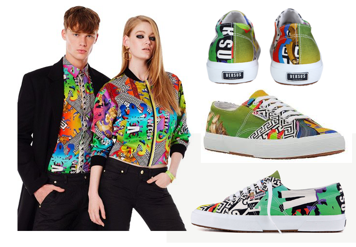 capsule collection versace for superga