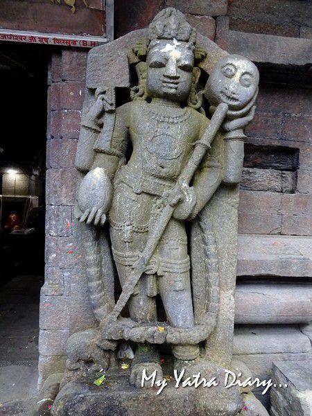 Dwarpala guarding the Jageshwar Mahadeo Temple, Jageshwar Uttarakhand