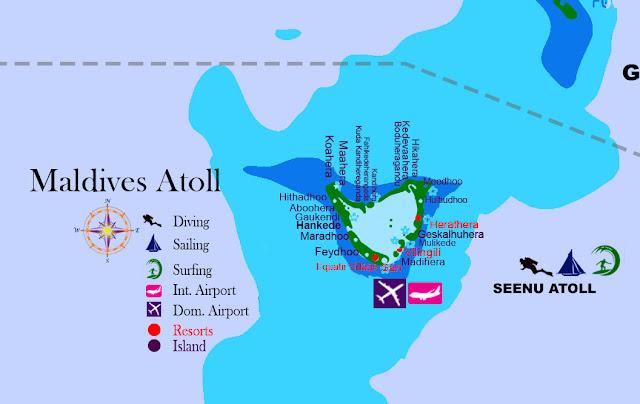 Maldives atoll Addu atoll, maldives map