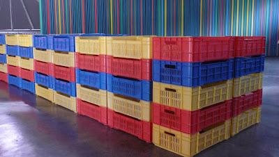 """Exposición """"Color en tres"""" de las artistas Elizabeth Cemborain, Marylee Coll   y Lourdes Peñaranda, Fotografía Gladys Calzadilla"""