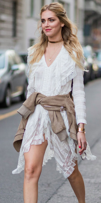 Need Style Inspiration for Fall Season. See these 31 Most Popular Fall Outfits to Truly Feel Fantastic. Fall Style via higiggle.com | white dress | #fall #falloutfits #style #dress