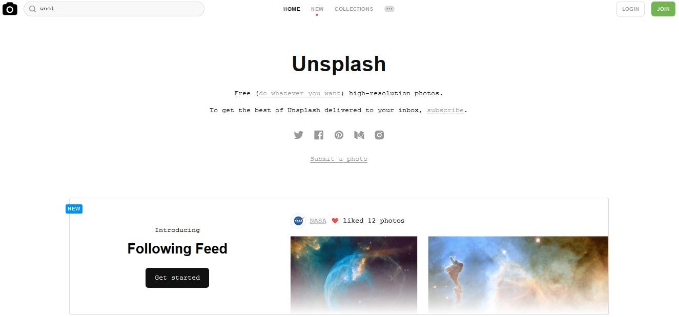 Kostenlose Stock Photos mit Creative Commons Zero Lizenz als freie Bildquellen für deinen Blog - Unsplash