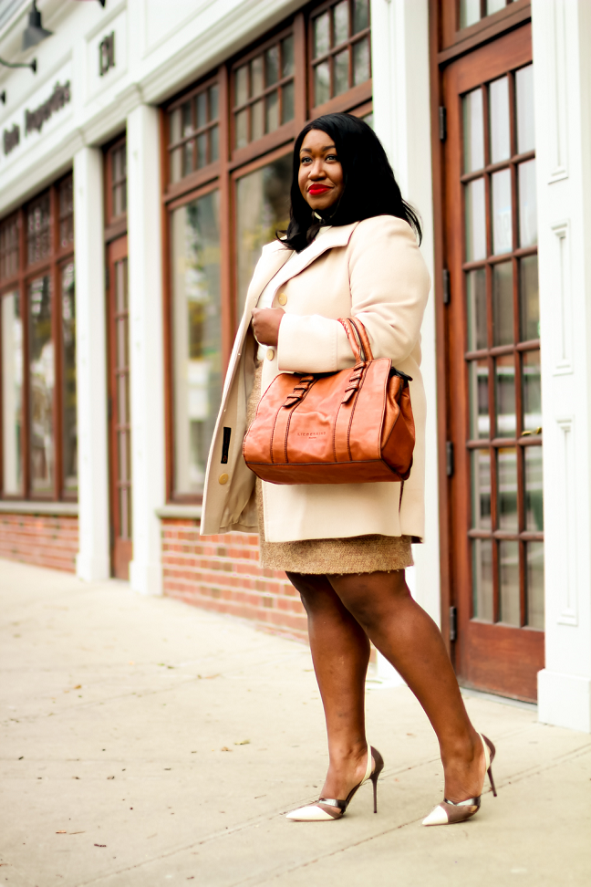 Plus Size How to Wear Neutrals Outfit Idea