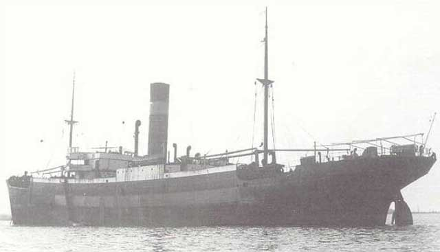 SS Halcyon, sunk on  5 February 1942 worldwartwo.filminspector.com