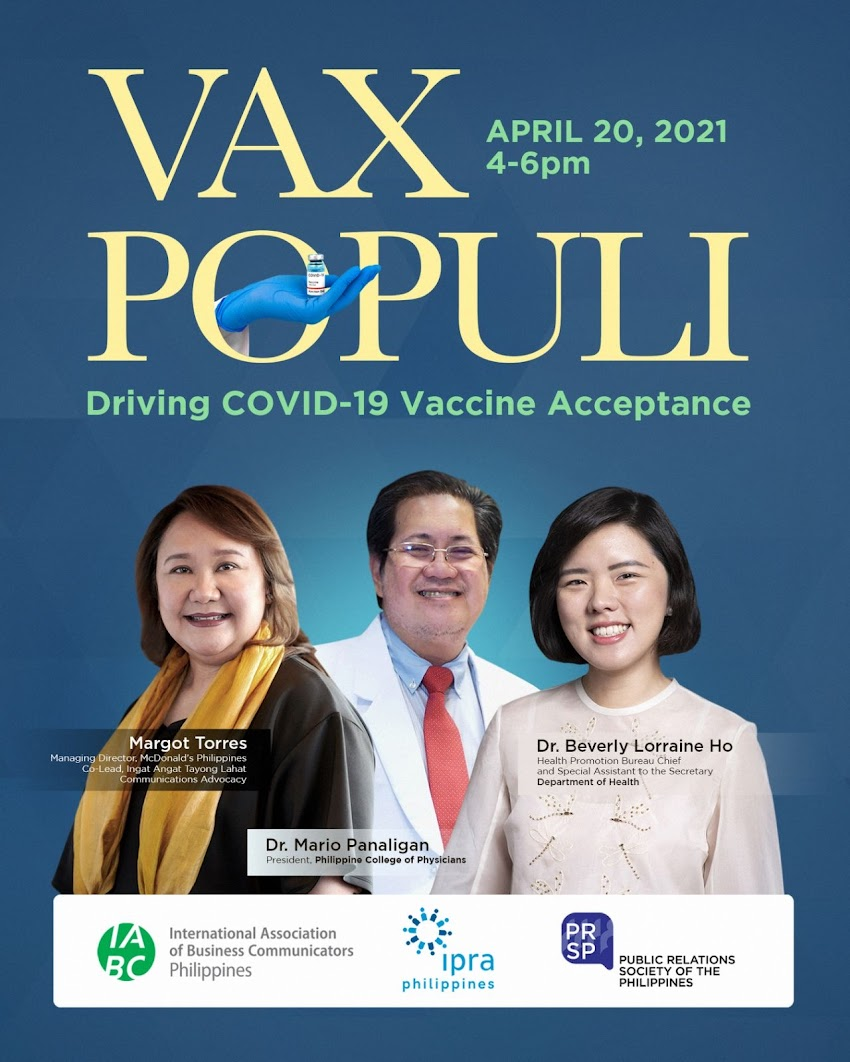 IABC Philippines, IPRA Philippines, & PRSP partner to boost COVID-19 vaccine acceptance