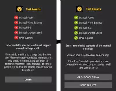 Manual Camera Compatibility