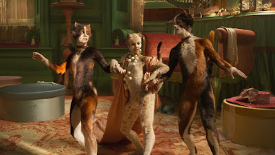 "In ""Cats,"" Rumpleteazer (Naoimh Morgan), Victoria (Francesca Hayward), and Mungojerrie (Danny Collins) get into all sorts of mischief as they sing their titular song."