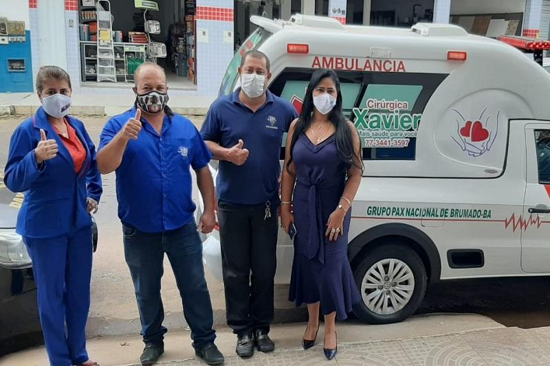 Pax Nacional representa nova era no atendimento aos associados de Livramento de Nossa Senhora e adquire nova ambulância