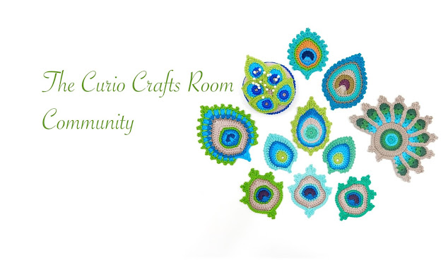 thecuriocraftsroom facebook group crochet peacock patterns