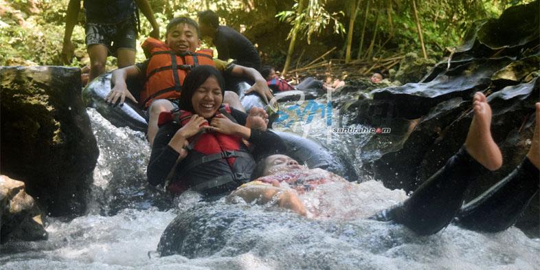 Jeram Rossi Santirah River Tubing Pangandaran