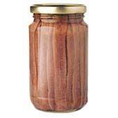 Frasco de anchoas en aceite