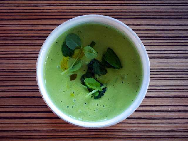 Pea and mint soup by Etch restaurant Brighton