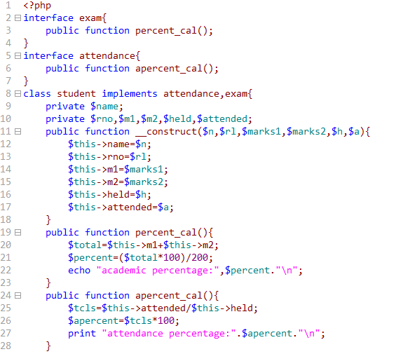 Urgetocode Implementing Multiple Interfaces In Php