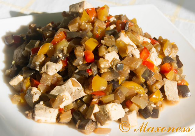 Овощи по-китайски с сыром тофу