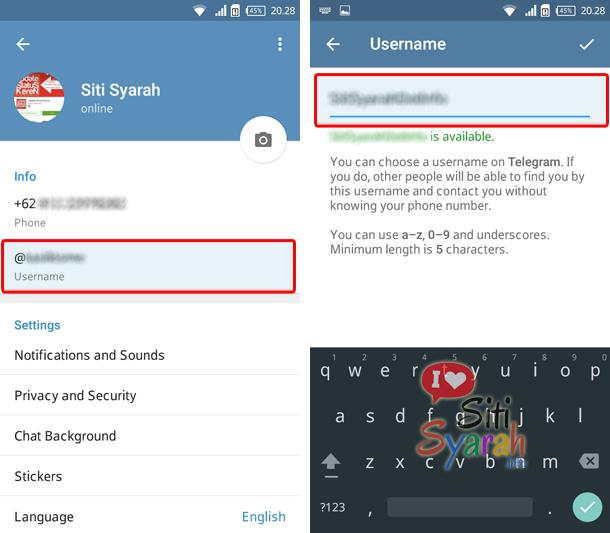 cara menggunakan telegram di android