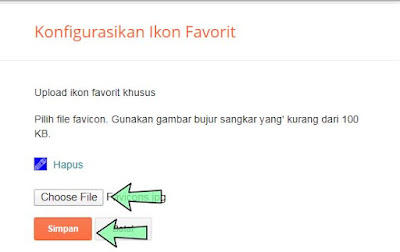 Cara memasang Favicon blogspot
