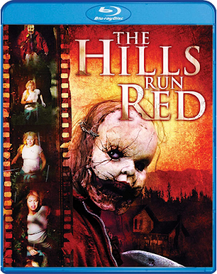 Cover art for Scream Factory's upcoming Blu-ray of THE HILLS RUN RED!