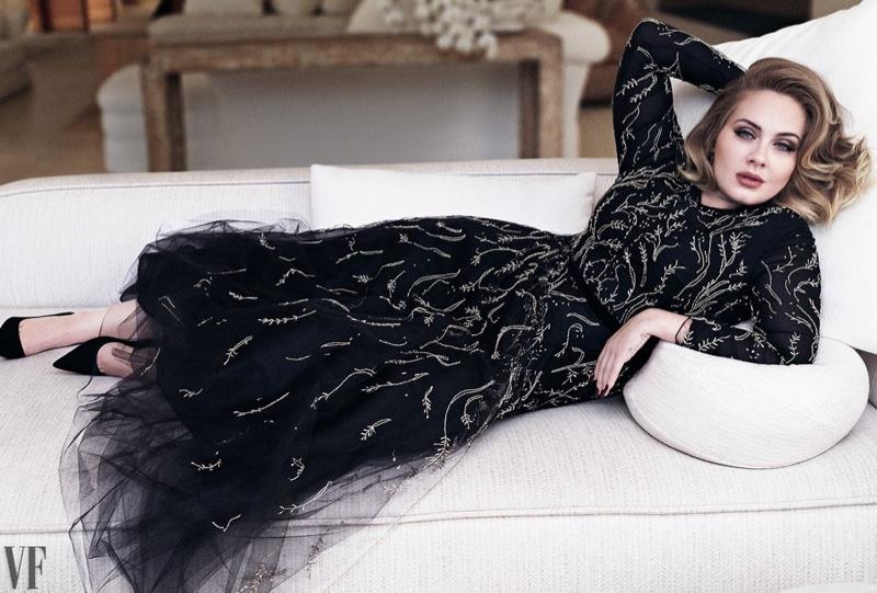 Adele en couverture du magazine Vanity Fair - décembre 2016, par le photographe Tim Munro.