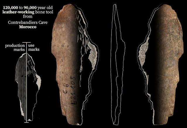 أدوات اثرية مكتشفة  في الموقع الاثري