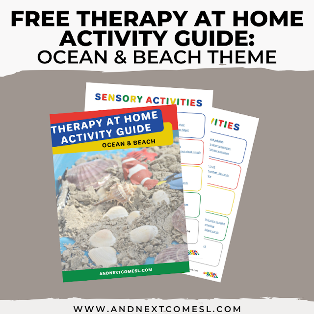 Ocean & beach themed activities for kids that can be done as therapy at home