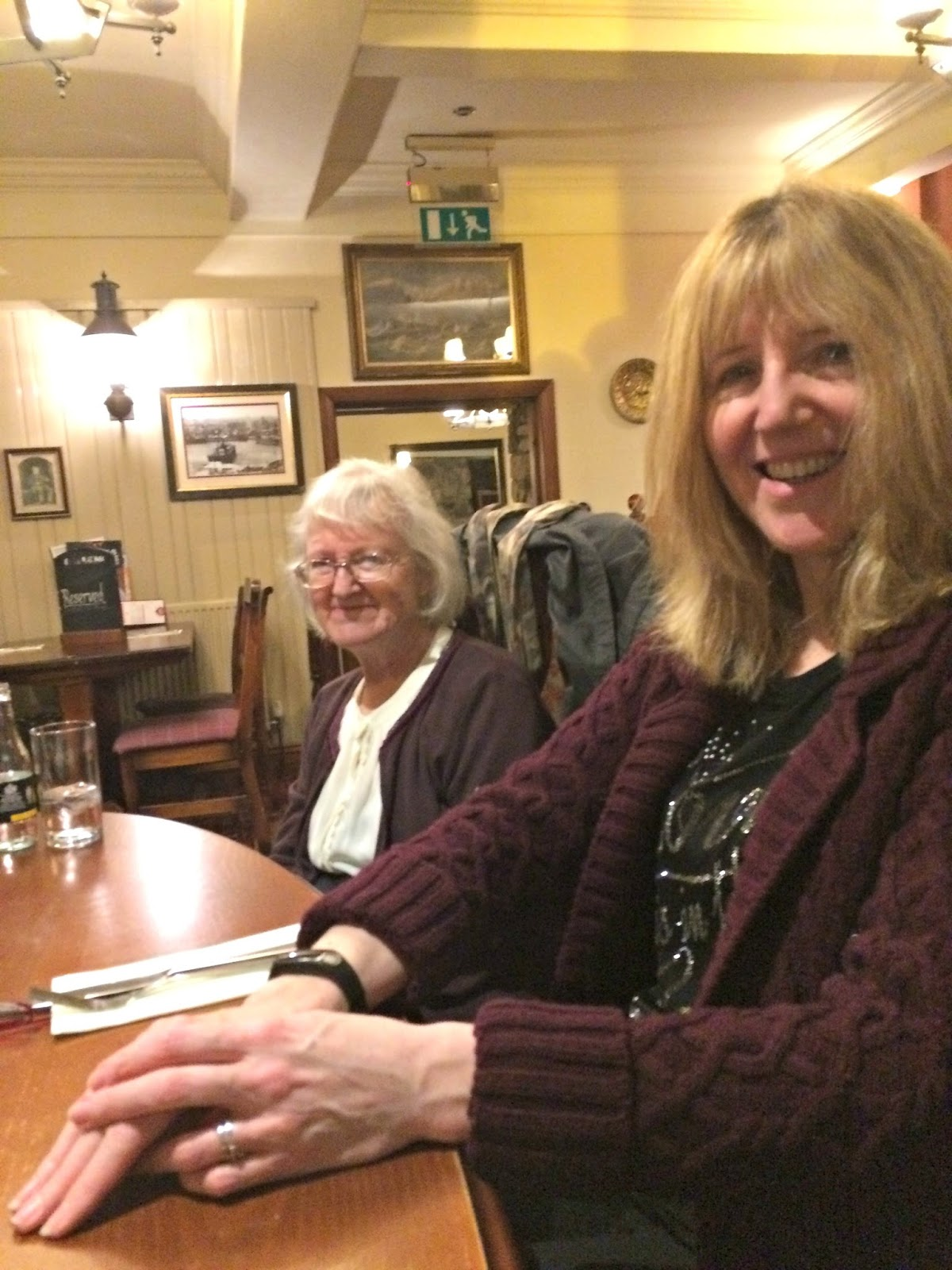 Linda and Mum in The Star Inn, Dinas Powys