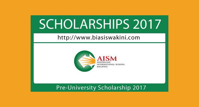 Biasiswa AISM 2017-Pre University Scholarship 2017