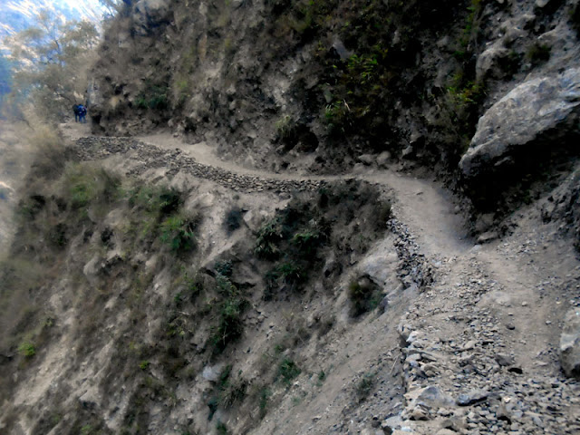 Trail condition of the Manaslu trekking Nepal