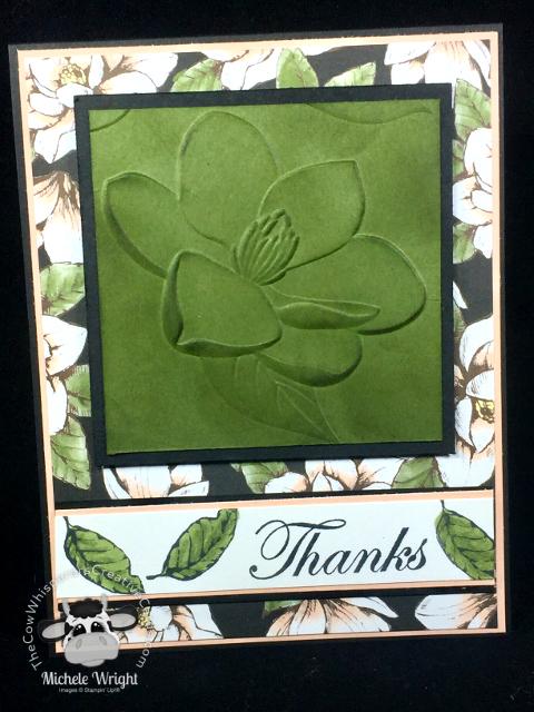 Card, Good Morning Magnolia, Magnolia Embossing Folder, Magnolia Lane Designer Series Paper