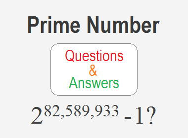 Prime Number Questions and Answers