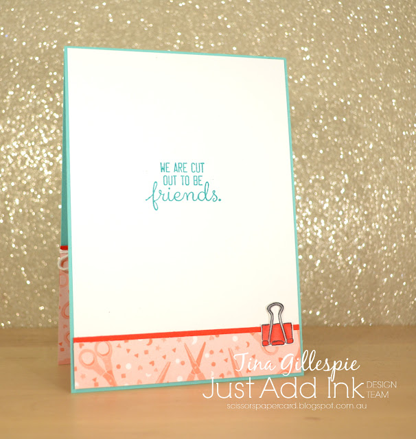 scissorspapercard, Stampin' Up!, Just Add Ink, Follow Your Art Suite, Crafting Forever, Fabulous Flamingo, Stampin' Blends
