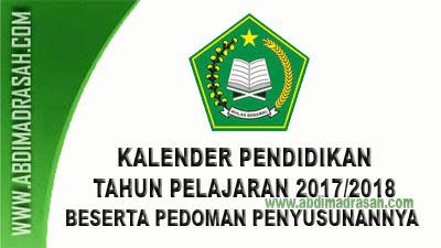 Download Kalender Pendidikan (Kaldik) Tahun Pelajaran 2017/2018 Untuk RA dan Madrasah