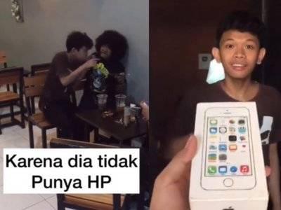 Viral Video Pria Belikan Ponsel untuk Temannya, Endingnya Malah Masuk Penjara
