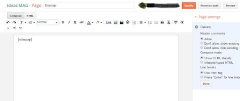 Como adicionar widget de sitemap nos blogs do Blogspot