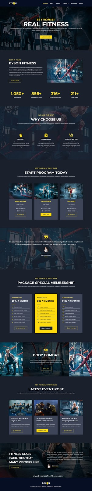 Fitness & Gym Elementor Template Kit