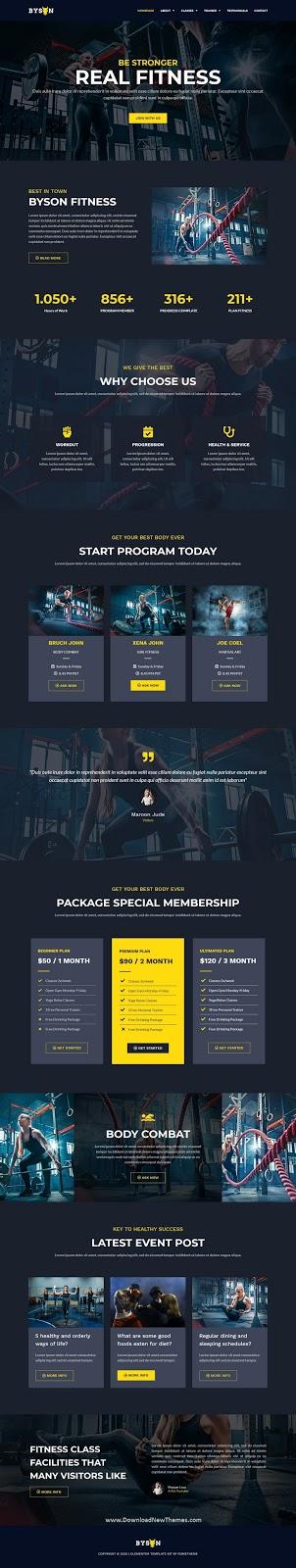 Fitness & Gym Elementor Template Kit