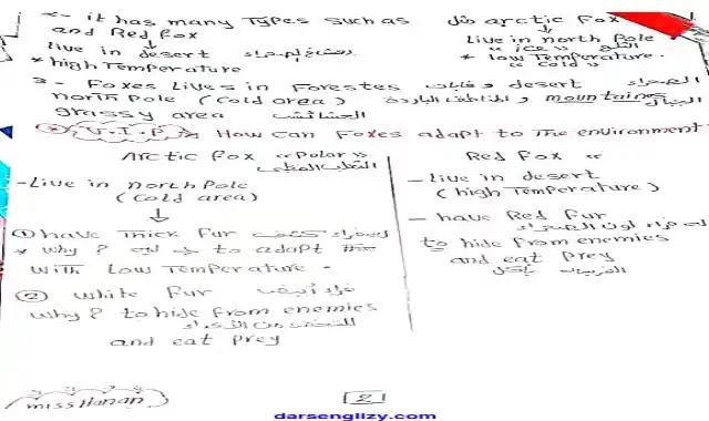 اول مذكرة ساينس للصف الرابع الابتدائى لغات الترم الاول 2022 المنهج الجديد Science prim 4